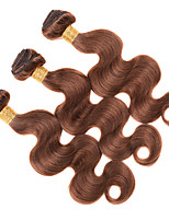 cheap -Ishow 3 Bundles Human Hair Weaves 8A Quality Hair Color Body Wave 4# Hair Curtain 100% Human Peruvian Wig 3 Pieces Combination Set 10-24 Inch