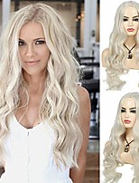cheap -blonde wigs long hair curly wavy wigs for women synthetic cosplay heat resistant wig halloween party carnival