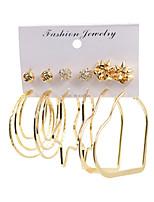 cheap -earrings set exaggerated geometric earrings circle big earrings set dangle earrings jewelry