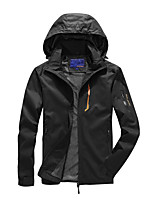 cheap -Men's Hiking Jacket Hoodie Jacket Hiking Windbreaker Outdoor Quick Dry Lightweight Breathable Sweat wicking Outerwear Coat Top Hunting Fishing Climbing Blue Gray Black / Camping / Hiking / Caving