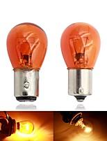 cheap -10pcs Car 1157 P21 / 5W BAY15D 1156 P21W BA15S 12v 21W Halogen Lamp Warm White Reverse Light Brake Bulb Brake Light