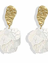 cheap -just follow white rose petal dangle earrings for women girls acrylic long drop floral tassel earrings statement exaggerated tiered resin flower earrings for wedding (rose petal dangle earrings-white)