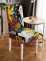 cheap -Stretch Kitchen Chair Cover Slipcover for Dinning Party Boho Bohemian Plants Four Seasons Universal Super Soft Fabric Retro Hot Sale