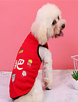 cheap -Dog Vest Dog Costume Word / Phrase Leisure Adorable Dailywear Casual / Daily Dog Clothes Puppy Clothes Dog Outfits Breathable Red Costume for Girl and Boy Dog Polyester XS S M L XL XXL
