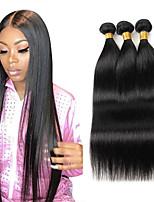 cheap -Natural color straight hair bundle 100% real Brazilian virgin fake hair curtain