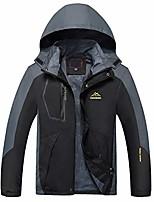cheap -Men's Hiking Jacket Hoodie Jacket Hiking Windbreaker Outdoor Quick Dry Lightweight Breathable Sweat wicking Outerwear Coat Top Hunting Fishing Climbing Men's black Men's color blue Men's red Men's