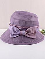 cheap -Vintage Style Elegant Polyester / Polyamide Hats / Headwear with Bow(s) / Split Joint / Trim 1 PC Casual / Holiday Headpiece