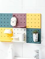 cheap -Household Storage Racks Multi-functional Shelf Kitchen Bathroom Wall Storage Organizer Free Combination 1-Piece Punch-free Hook