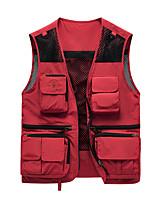 cheap -Men's Hiking Fishing Vest Work Vest Survival Military Tactical Jacket Outdoor Casual Lightweight Multi Pockets Summer Travel Cargo Safari Photo Vest Wear Resistance Breathable Waistcoat Coat Top