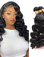 cheap -Loose Wave Brazilian Virgin Human Hair for Black Women Human Remy Hair Weave Bundles Natural Color