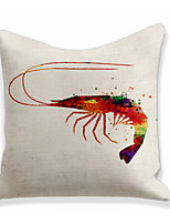 cheap -Langoustine Lobster Double Side Cushion Cover 1PC Soft Decorative Square Throw Pillow Cover Cushion Case Pillowcase for Bedroom Livingroom Superior Quality Machine Washable Outdoor Cushion for Sofa Couch Bed Chair