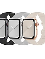 cheap -langxian 3 pack compatible with apple watch band 38mm 40mm m/l,sport soft silicone strap replacement bands compatible for apple iwatch series 6/5/4/3/2/1/se(black-fog-stone)