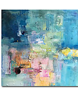 cheap -Oil Painting Handmade Hand Painted Wall Art Modern Craft PaintingBlue Abstract Home Decoration Dcor Rolled Canvas No Frame Unstretched