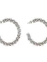cheap -jewelry full diamond earrings rhinestone claw chain winding c-shaped earrings