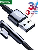 preiswerte -UGREEN USB C Kabel High-Speed 3 A 1.5M (5Ft) 1.0m (3Ft) 0,5m (1.5ft) Nylon TPE Für Xiaomi Huawei Handy-Zubehör