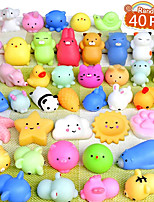 cheap -40Pcs Mochi Squishy Toys Mini Squishies Kawaii Animal Squishies Party Favors for Kids Cat Panda Unicorn Squishy Novelty Stress Relief Toys Birthday Gifts Goody Bags Class Prizes Pinata Fillers