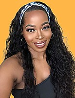 cheap -curly headband wigs full machine made long black synthetic headband wig for women natural looking high density