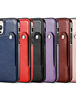 cheap -Phone Case For Apple Back Cover iPhone 12 Pro Max 11 SE 2020 X XR XS Max 8 7 6 Card Holder Shockproof Dustproof Solid Colored PU Leather TPU