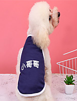 cheap -Dog Vest Dog Costume Text / Number Leisure Adorable Dailywear Casual / Daily Dog Clothes Puppy Clothes Dog Outfits Breathable Dark Blue Costume for Girl and Boy Dog Polyester XS S M L XL XXL