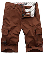 """cheap -Men's Hiking Shorts Hiking Cargo Shorts Military Solid Color Summer Outdoor 10"""" Ripstop Quick Dry Multi Pockets Breathable Knee Length Shorts Bottoms Army Green Khaki Burgundy Royal Blue Light Green"""