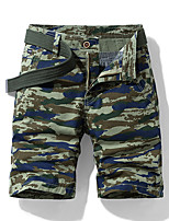 "cheap -Men's Hiking Shorts Hiking Cargo Shorts Military Camo Summer Outdoor 10"" Ripstop Quick Dry Front Zipper Multi Pockets Cotton Knee Length Shorts Bottoms Yellow Army Green Dark Gray Light Grey Khaki"