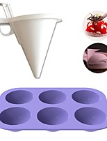 cheap -Semi Sphere Silicone Mold Kit Baking Mold Set of Pastry Baking Mould and Funnel Dispenser