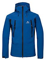 cheap -Cikrilan Men's Hiking Softshell Jacket Hiking Jacket Hiking Windbreaker Fleece Elastane Softshell Winter Outdoor Solid Color Windproof Fleece Lining Breathable Detachable Cap Jacket Top Double