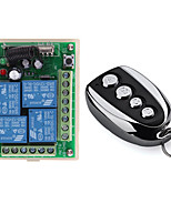 cheap -433Mhz Universal Wireless Remote Control Switch DC 12V 4CH relay Receiver Module With 4 channel RF Remote 433 Mhz Transmitter