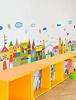 cheap -cute animal cartoon skirting wall stickers kindergarten children's room wall decoration stickers waist line wallpaper self-adhesive 50*70CM