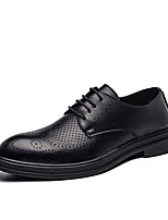 cheap -Men's Oxfords Formal Shoes Classic Daily Office & Career Patent Leather Non-slipping Wear Proof Black Spring Summer