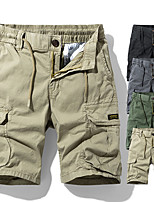 """cheap -Men's Hiking Shorts Hiking Cargo Shorts Military Summer Outdoor 10"""" Ripstop Quick Dry Multi Pockets Breathable Cotton Knee Length Bottoms Black Khaki Green Gray Work Hunting Fishing 29 30 31 32 33"""