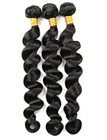cheap -Ishow 3 Bundles Human Hair Weaves Brazil Hair 100% Human Hair 3 Pieces Loose Deep Human Hair Combination Outfit 8-28 Inch Hair Extensions