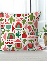 cheap -Colorful Summer Double Side Cushion Cover 1PC Soft Decorative Square Throw Pillow Cover Cushion Case Pillowcase for Bedroom Livingroom Superior Quality Machine Washable Outdoor Cushion for Sofa Couch Bed Chair