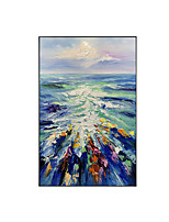 cheap -Oil Painting Handmade Hand Painted Wall Art Rectangle Seascape Abstract Pictures Home Decoration Decor Stretched Frame Ready to Hang