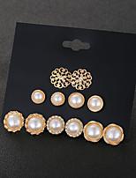 cheap -simple earrings pearl earrings set female ear jewelry