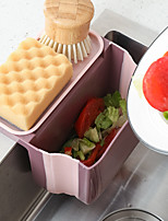 cheap -Kitchen Double Suction Cup Hanging Sink Dry and Wet Separation Kitchen Waste Drain Basket Fruit and Vegetable Drain Foldable Storage Box