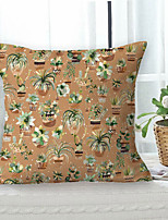 cheap -Cactus Pastoral Double Side Cushion Cover 1PC Soft Throw Pillow Cover Cushion Case Pillowcase for Sofa Bedroom Livingroom Superior Quality Machine Washable  Outdoor Cushion for Sofa Couch Bed Chair