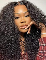 cheap -Human Hair Wig Medium Length Long Kinky Curly U Part U Part Natural Women Sexy Lady New Capless Brazilian Hair Women's Natural Black #1B 10 inch 12 inch 14 inch