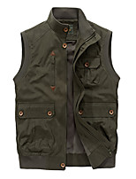 cheap -Men's Hiking Vest / Gilet Fishing Vest Military Tactical Jacket Sleeveless Jacket Coat Top Outdoor Quick Dry Multi Pockets Lightweight Breathable Autumn / Fall Spring Summer 58168 Khaki 58168 Army