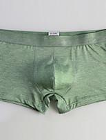 cheap -Men's 1 PC Basic Boxers Underwear Low Waist Blue Purple Black S M L