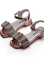 cheap -girls sandals korean princess crystal shoes 2021 new summer soft-soled children's shoes, big children's fashion children's shoes