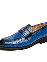 cheap -Men's Loafers & Slip-Ons Formal Shoes Penny Loafers Business Classic Party & Evening Office & Career Walking Shoes PU Non-slipping Red Blue Black Fall Spring
