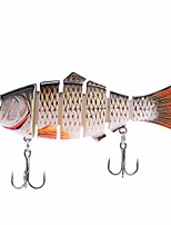 cheap -fishing lures for trout, bass swimbaits, 4 inch slow sinking bionic fishing swimming lures for both freshwater and saltwater. 6 segment lifelike multi-jointed lures