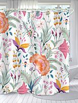 cheap -Flower Series Digital Printing Shower Curtain Shower Curtains  Hooks Modern Polyester New Design 72 Inch