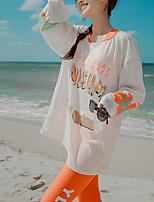 cheap -Women's Rashguard Swimsuit Nylon Swimwear UV Sun Protection UPF50+ Quick Dry Stretchy Long Sleeve 4-Piece - Swimming Surfing Snorkeling Autumn / Fall Spring Summer