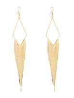 cheap -dangle earrings drop earrings bohemian ethnic rhombus long tassel earrings