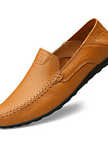 cheap -Men's Loafers & Slip-Ons Comfort Shoes Business Sporty Daily Office & Career Faux Leather Waterproof Massage Non-slipping Light Brown Dark Brown Black Spring Summer / Square Toe