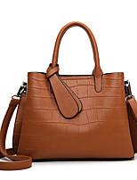 cheap -Women's Bags PU Leather Top Handle Bag Zipper Date Office & Career Handbags Wine Blue Khaki Black