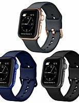 cheap -adepoy compatible with apple watch bands 44mm 42mm 40mm 38mm, soft silicone sport wristbands replacement strap with classic clasp for iwatch series se 6 5 4 3 2 1 for women men, 3 pack 42/44mm
