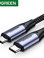 cheap -UGREEN USB C to USB C Cable High Speed 3 A 2.0m(6.5Ft) 1.5m(5Ft) 1.0m(3Ft) TPE For Xiaomi Huawei Phone Accessory